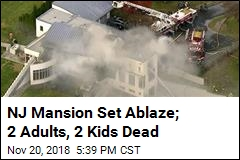 2 Adults, 2 Kids Dead in Intentionally-Set Mansion Fire