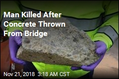 Concrete Thrown From Bridge Causes Fatal Wreck