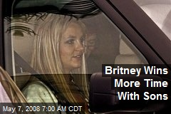 Britney Wins More Time With Sons