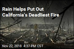 Rain Helps Put Out California's Deadliest Fire