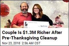 Couple Is $1.2M Richer After Pre-Thanksgiving Cleanup