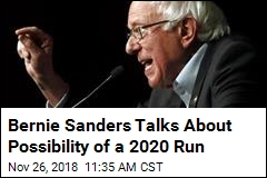 Bernie: If I'm the Best Candidate, I'll 'Probably Run'