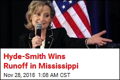 Hyde-Smith Wins Runoff in Mississippi