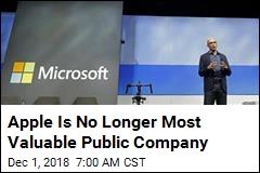 Apple Is No Longer Most Valuable Public Company