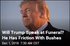 Trump Has Kind Words for George HW Bush