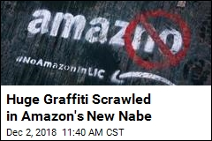 Huge Graffiti Scrawled in Amazon's New Nabe