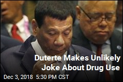 Duterte Makes Unlikely Joke About Drug Use