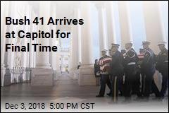 Bush 41 Arrives at Capitol for Final Time
