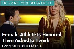 She Wins Prestigious Honor for Women, Is Asked to Twerk