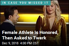 She Wins Prestigious Honor for Women, Is Asked to Twerk