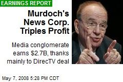 Murdoch's News Corp. Triples Profit