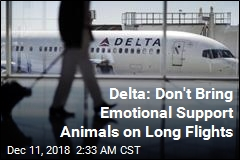 Delta: No More Emotional Support Animals on Long Flights