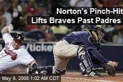 Norton's Pinch-Hit Lifts Braves Past Padres