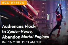 Spidey Swings Again as Mortal Engines Sputters