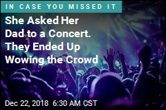 Father, Daughter Make a Sweet Scene at Rock Concert