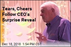 Tears, Cheers Follow CEO's Surprise Reveal