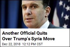 Trump's Syria Move Prompts Another Resignation