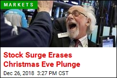 Stock Surge Erases Christmas Eve Plunge