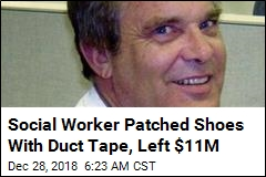 Social Worker Patched Shoes With Duct Tape, Left $11M