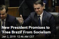Brazil Swears in Hard-Right Leader