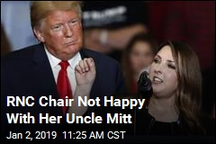 RNC Chair Not Happy With Her Uncle Mitt