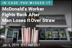 McDonald's Worker Fights Back After Man Loses It Over Straw