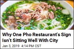 'Pho Keene Great' Sign Doesn't Go Over Well With City