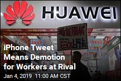 iPhone Tweet Means Demotion for Workers at Rival