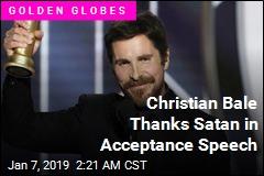 Christian Bale Thanks Satan in Acceptance Speech
