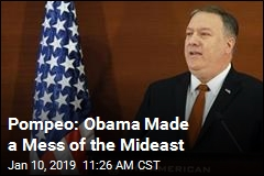 Pompeo Offers Scathing Rebuke of Obama Mideast Policy
