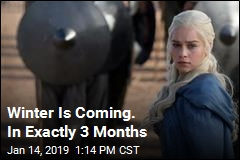 Winter Is Coming. In Exactly 3 Months