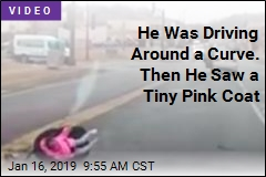 He Was Driving Around a Curve. Then He Saw a Tiny Pink Coat