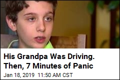 Boy Takes the Steering Wheel as Grandfather Has Stroke