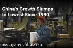 China's Growth Slumps to Lowest Since 1990