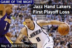 Jazz Hand Lakers First Playoff Loss