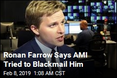 Ronan Farrow: AMI Tried to Blackmail Me, Too