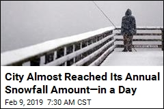 City Almost Reached Its Annual Snowfall Amount—in a Day