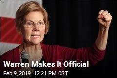Warren Makes It Official