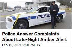 Police Answer Complaints About Late-Night Amber Alert