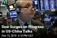 Dow Surges on Progress in US-China Talks