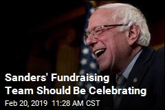 Sanders' Fundraising Team Should Be Celebrating