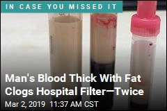 Blood Thick With Fat Clogs Hospital Filter—Twice