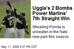 Uggla's 2 Bombs Power Marlins' 7th Straight Win