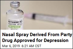 Nasal Spray Derived From Party Drug Approved for Depression