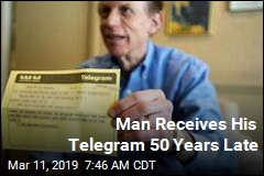 Man Receives His Telegram 50 Years Late
