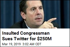 'Defamed' Rep. Nunes Sues Twitter for $250M