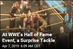 At WWE's Hall of Fame Event, a Surprise Tackle