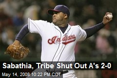 Sabathia, Tribe Shut Out A's 2-0
