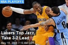 Lakers Top Jazz, Take 3-2 Lead