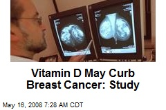 Vitamin D May Curb Breast Cancer: Study